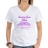 Amazing grace Womens V-Neck T-shirts