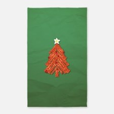 Bacon Christmas Tree 3'x5' Area Rug