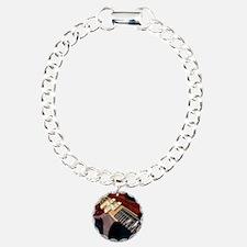 Electric Guitar Charm Bracelet, One Charm