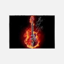 Flaming Guitar 5'x7'Area Rug
