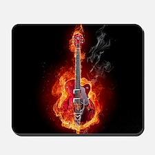 Flaming Guitar Mousepad