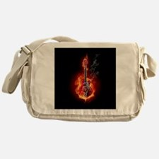Flaming Guitar Messenger Bag
