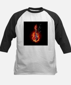 Flaming Guitar Baseball Jersey
