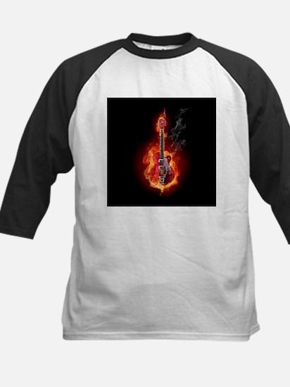 Flaming Guitar Baseball Jersey