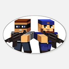Cops & Robbers Minecraft Pixel Gun 3D Shoo Decal