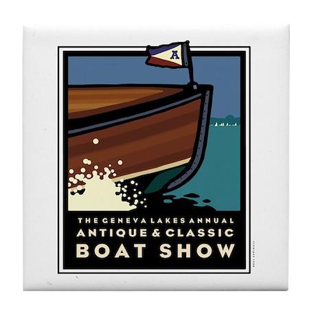 Lake Geneva Classic Boat Show Tile Coaster