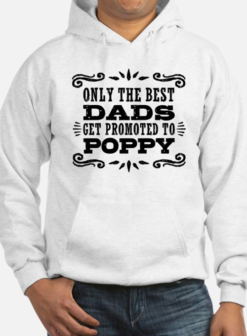 The Best Dads Get Promoted To Po Hoodie
