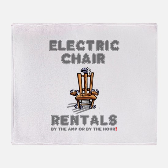 ELECTRIC CHAIR RENTALS - BY THE AMP Throw Blanket