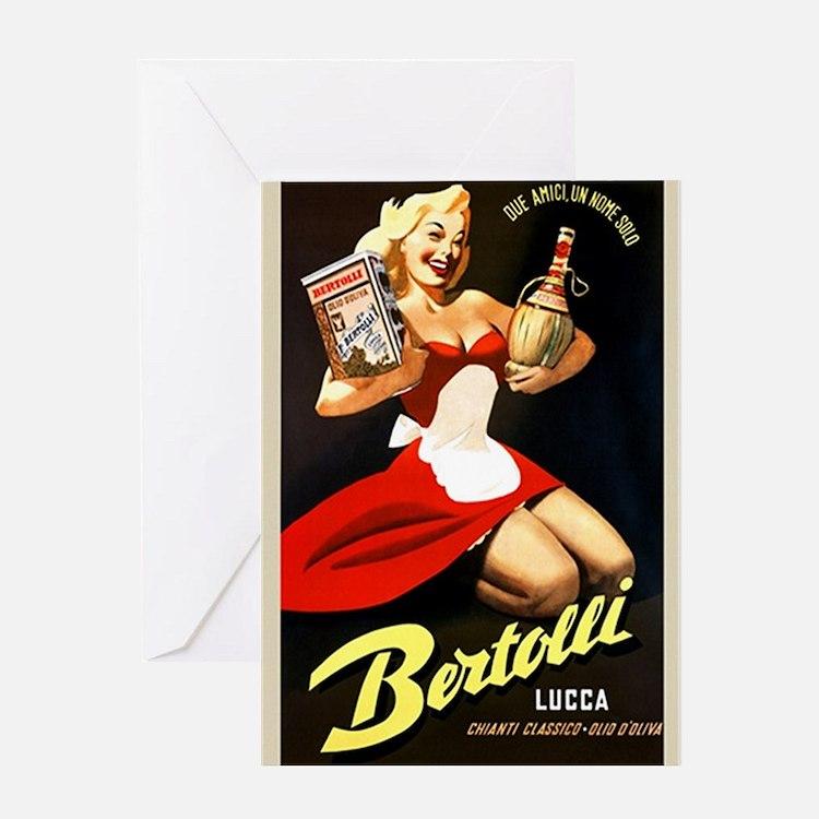 Vintage Bertolli Advertisement Greeting Cards