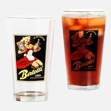 Vintage Bertolli Advertisement Drinking Glass