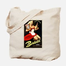 Vintage Bertolli Advertisement Tote Bag