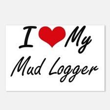 I love my Mud Logger Postcards (Package of 8)
