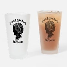 Jane Eyre Hair Don't Care Drinking Glass