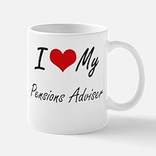 I love my Pensions Adviser Mugs