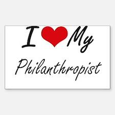 I love my Philanthropist Decal