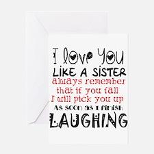 like a sis Greeting Cards