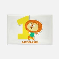 1st Birthday Personalized Name Rectangle Magnet