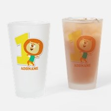 1st Birthday Personalized Name Drinking Glass