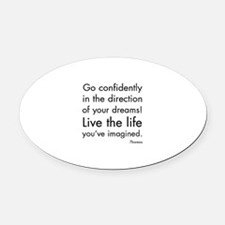 Go Confidently Oval Car Magnet