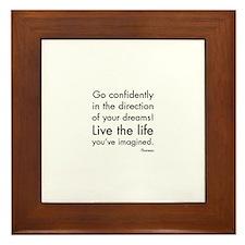 Go Confidently Framed Tile