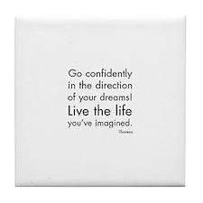 Go Confidently Tile Coaster