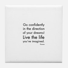 Go Confidently Tile Coaster