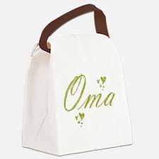 Funny Portrait woman Canvas Lunch Bag