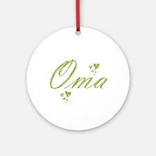 oma Round Ornament