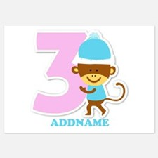 3rd Birthday Personalized Name Invitations