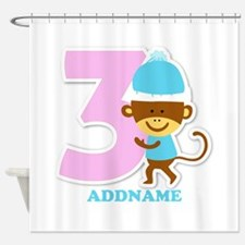 3rd Birthday Personalized Name Shower Curtain