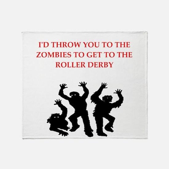 roller derby Throw Blanket