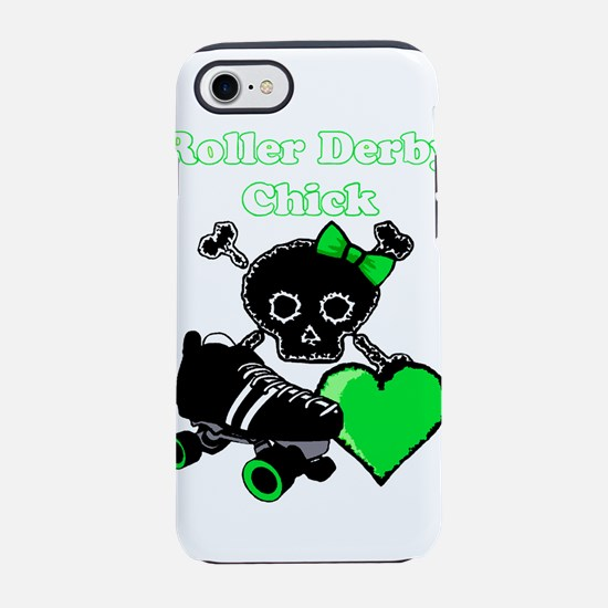 Roller Derby Chick (Green) iPhone 8/7 Tough Case