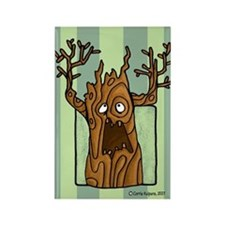 Haunted Tree Rectangle Magnet