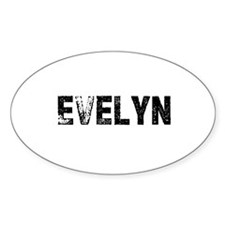 Evelyn Oval Decal