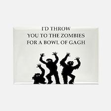 Zombie food joke Magnets