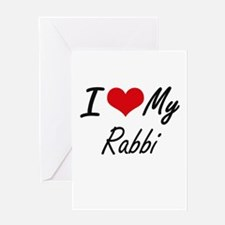 I love my Rabbi Greeting Cards