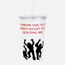 quilting Acrylic Double-wall Tumbler