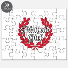 Skinhead Girl Red Puzzle