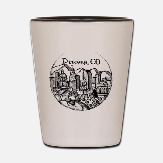 Cute Denver co Shot Glass