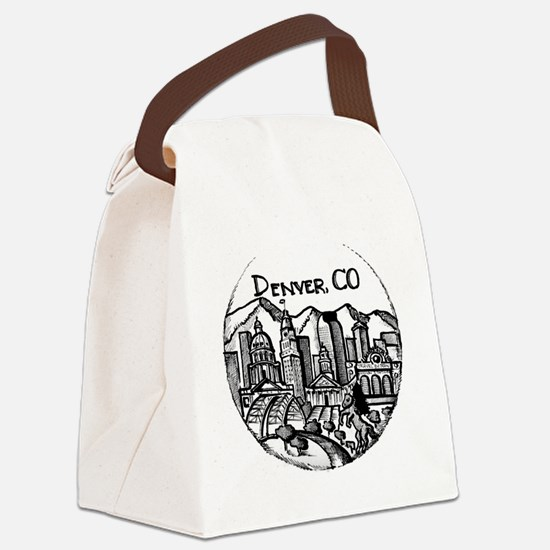Cute Denver Canvas Lunch Bag
