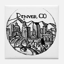 Funny Downtown Tile Coaster
