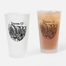 Unique Denver colorado Drinking Glass