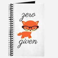 Zero Fox Given Journal