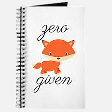 Zero Fox Given Journal