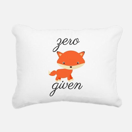 Zero Fox Given Rectangular Canvas Pillow