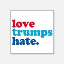 "Cute Love hate Square Sticker 3"" x 3"""