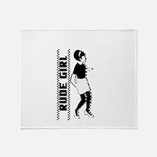 Rude Girl Throw Blanket