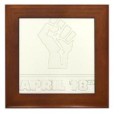 April 18th T-shirt Framed Tile