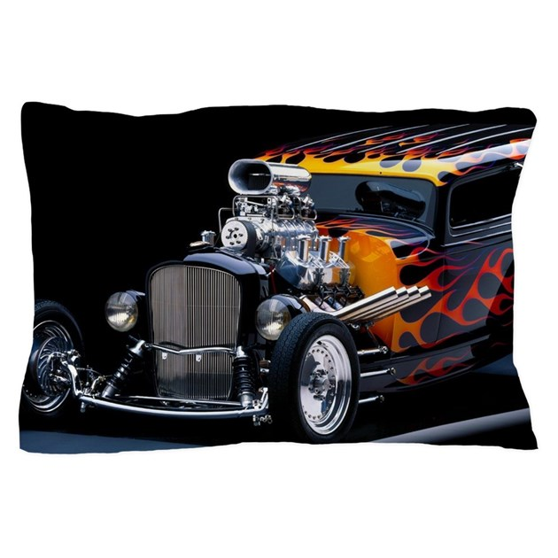 Hot rod pillow case by wickeddesigns4 for Kitchen colors with white cabinets with muscle car stickers