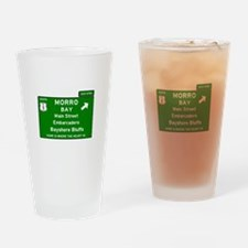 HIGHWAY 1 SIGN - CALIFORNIA - MORRO Drinking Glass